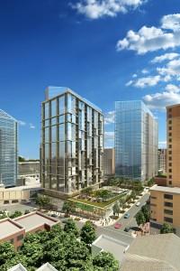 Aerial view of planned 1401 Wilson Blvd. development.