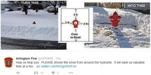 Hydrants and snow