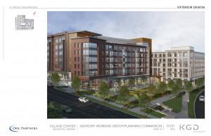 Village Center rendering.
