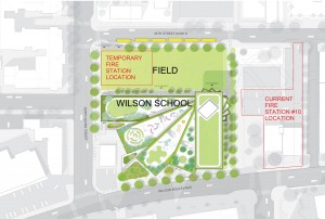 Map of Wilson School site.