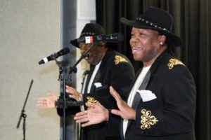 Motown Revue duo The Winstons perform.