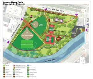 rendering of Jennie Dean Park