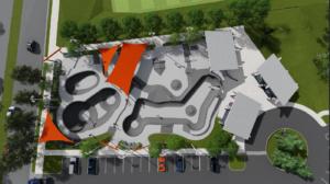 Powhatan Springs Skate Park rendering.