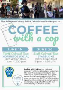 June 2018 Coffee with a Cop Flyer