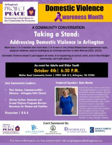 domestic violence awareness month flier