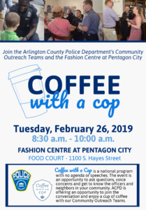 Coffee with a Cop at Fashion Centre Flyer