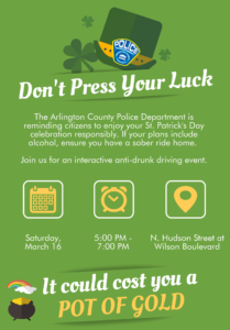 Dont Press Your Luck Anti Drunk Driving Event Flyer