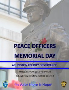 Peace Officer Memorial Day Event Flyer