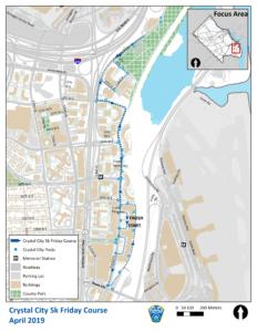 Crystal City 5k Fridays Road Closure Map
