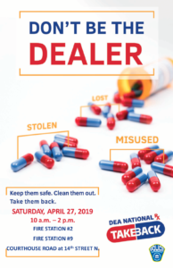 4-27-19 Drug Takeback Day Flyer