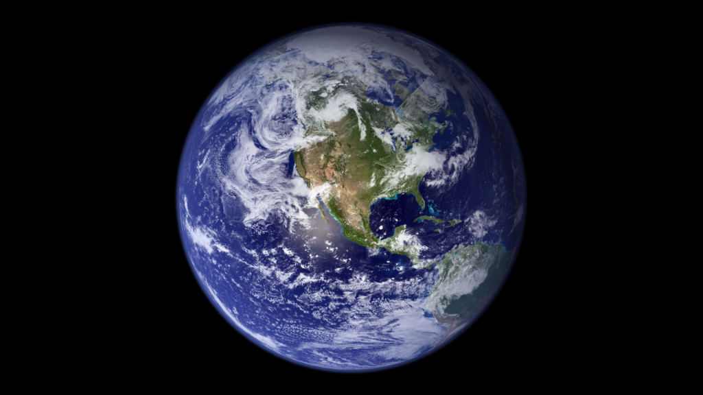 The Earth from space, focused on North America. Courtesy of the Goddard Space Flight Center via Flickr.