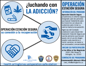 Flyer in Spanish on Operation Safe Station