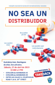 4-27-19 drug takeback flyer en espanol