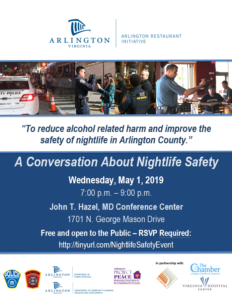 conversation about nightlife safety flyer