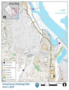 Cycling Classic Challenge Ride Road Closures Map
