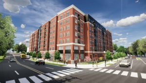 seven-story residential building at Washington-Kirkwood