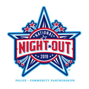 National Night Out logo with stars