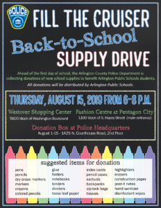 BacktoSchool Fill the Cruiser flyer
