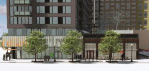 Rendering of 400 11th St. S front entrance