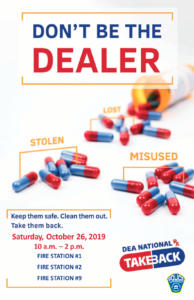 Location Information on Drug Take Back Day