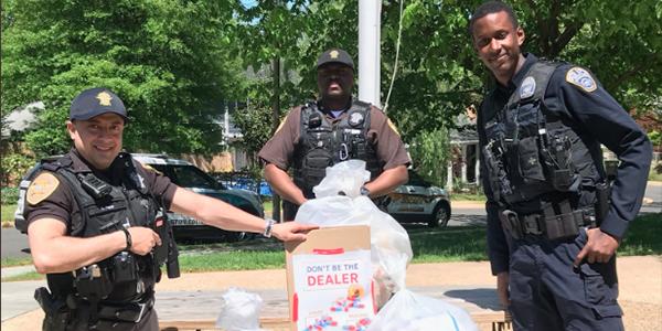 Police and Sheriff at Drug Take Back