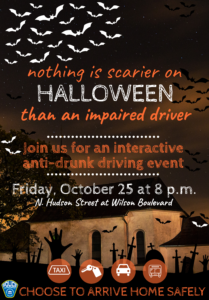 Halloween Anti Drunk Driving Outreach Event Flyer