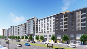 rendering of Harris Teeter site redevelopment on N. Glebe Rd.
