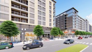 Rendering of N. Glebe Rd. planned redevelopment of Harris Teeter site