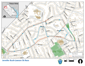 Jennifer Bush-Lawson Road Closure Map