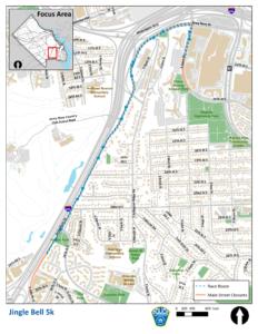 Jingle Bell 5K Race route map