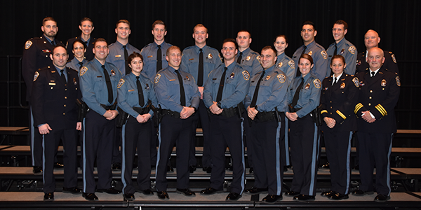 new police officers at graduation from NVCJA