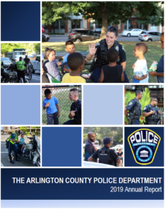 Photo collage from 2019 of police