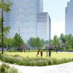 Rendering of Central Green at Met Park