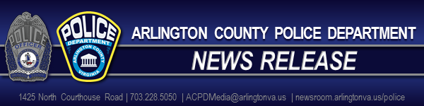 header graphic with text arlington county police department news release