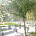 Rendering of John Robinson, Jr. Town Square
