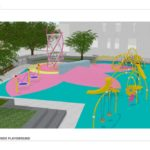 rendering of Rosslyn Highlands Park playground
