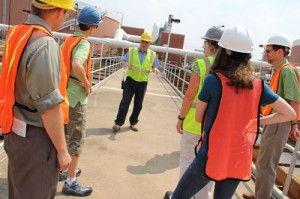 Water Pollution Control Plant staff giving a tour.