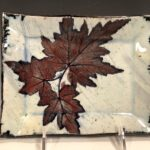 Ceramic Leaf Plate by Martin Karcher