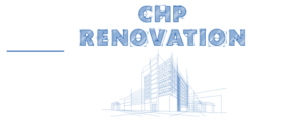 Renovation logo - architectural drawing of CHP