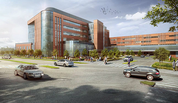 virginia hospital center expansion rendering from george mason drive