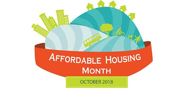 affordable housing month logo for october 2018