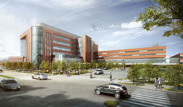 artistic rendering of completed virginia hospital center expansion