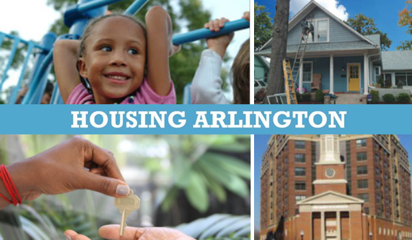 housing arlington graphic including images of affordable housing
