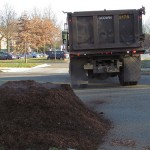 Full size load mulch pile.
