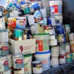 Paint cans collected at E-CARE.
