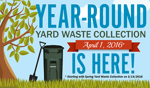 year round yard waste collection is here graphic
